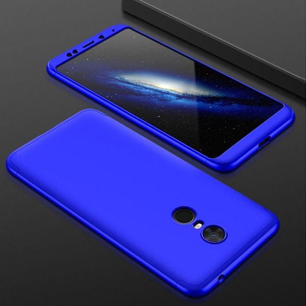 360 Protection etui na całą obudowę przód + tył Xiaomi Redmi 5 Plus / Redmi Note 5 (single camera) niebieski zdjęcie 2