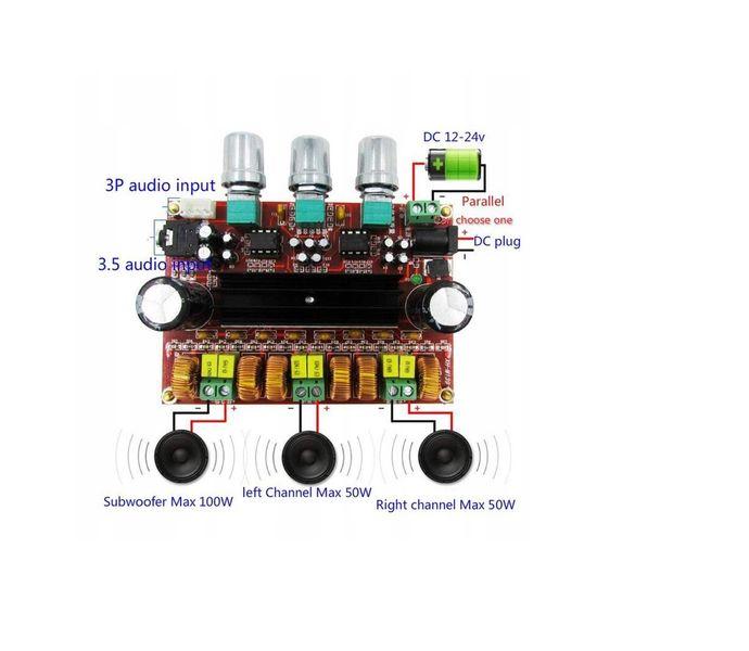 TPA3116D2 wzmacniacz mocy audio 2x50W + 100W sub na Arena.pl