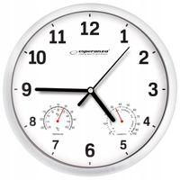 Zegar ścienny termometr higrometr 3w1 25cm