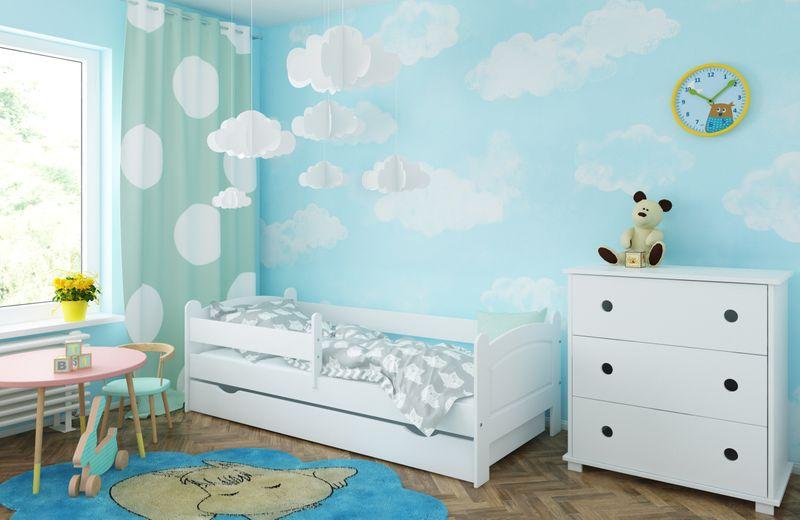 Łóżko AMELIA 180x80 szuflada + barierka zabezpieczająca + MATERAC zdjęcie 4