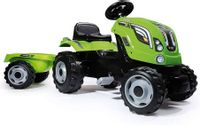 Smoby Traktor na pedały dla dziecka XL z przyczepą - Zielony 710111