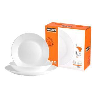 Serwis obiadowy biały 18 el. na 6 os ZELIE ARCOPAL