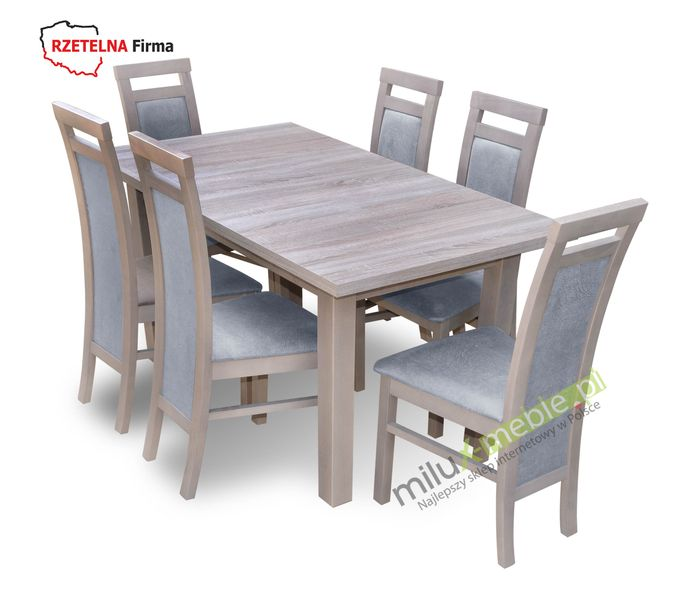 Stół I Krzesła Krzesło Jadalnia Salon Sd6 6xkd8 Dąb Truflowy