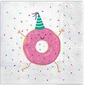 SERWETKI papierowe TAŃCZĄCY PĄCZEK donut RÓŻOWYx20