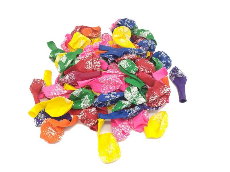 Balony lateksowe kolorowe, pastelowe na urodziny 100 szt. zdjęcie 4