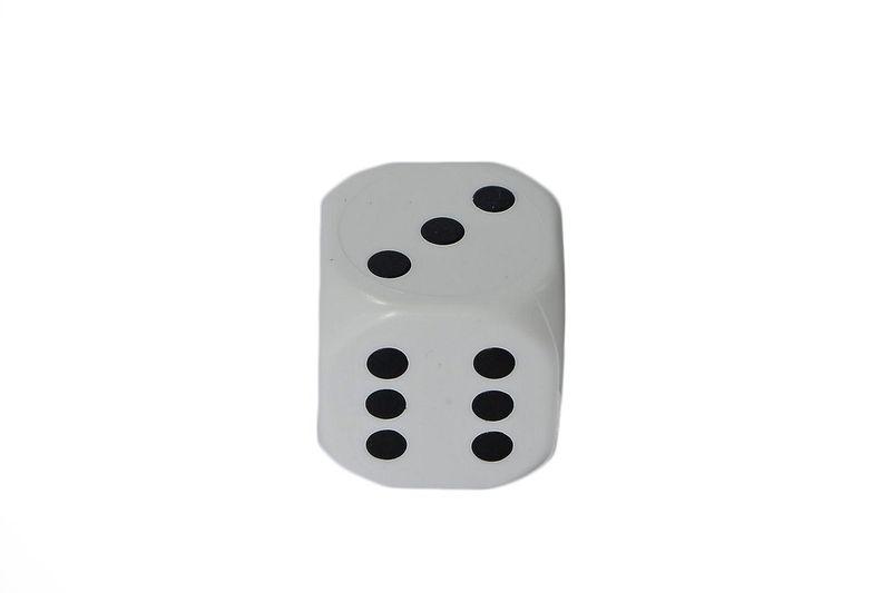 526ce52ab3bffc Kostka do gry premium - K6 - biała • Arena.pl
