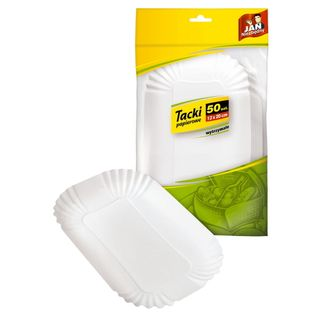 Jan Niezędny  Tacki Papierowe  (13 X 20 Cm) - 50 Sztuk