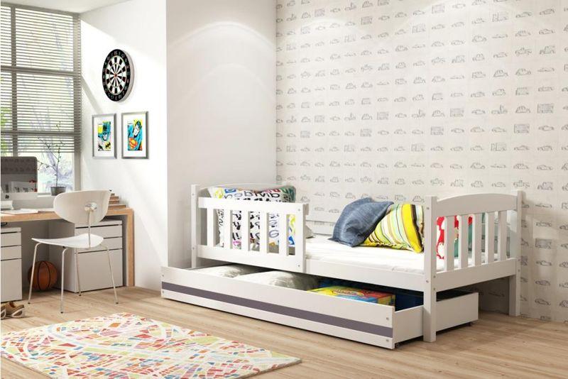 łóżko Pojedyncze Dla Dzieci Kubuś 200x90 Dziecięce Szuflada Arenapl