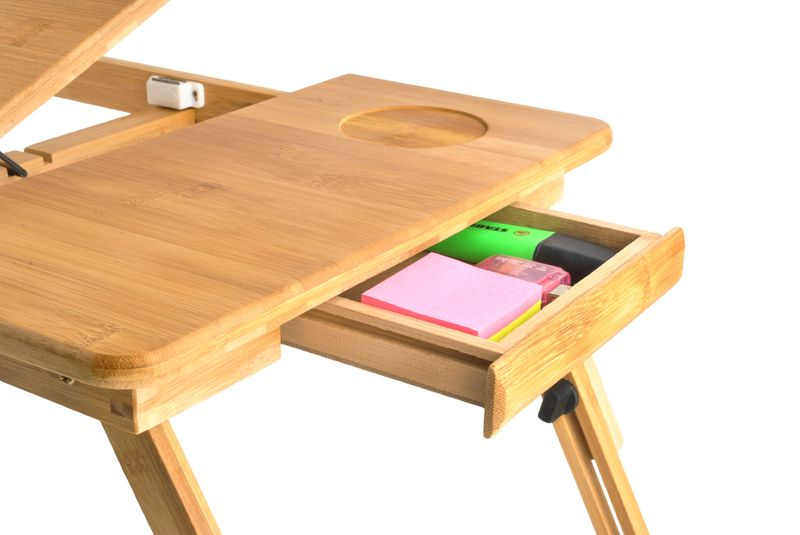 Stolik Pod Laptopa Do łóżka Regulowany Drewniany 7974