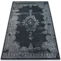 Dywan Vintage Rozeta 22206/996 czarny szary 80x150 cm
