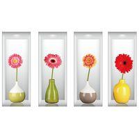 Naklejki na ścianę ścienne Kwiaty 3D WS-0187