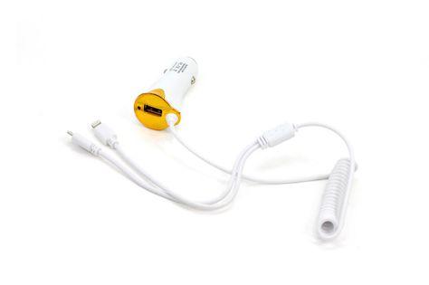 ŁADOWARKA SAMOCHODOWA USB, MIKRO USB, IPHONE