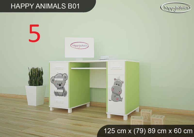 BIURKO DZIECIĘCE  HAPPY ANIMALS B01 AM01 Zielone zdjęcie 17