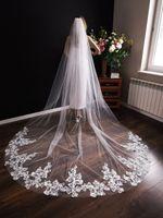 Welon ślubny długi 3m biały kościelny koronka PL