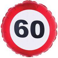 Balon foliowy 60 URODZINY liczba Traffic Birthday