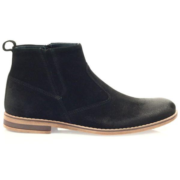 0d7013b67a1b5f Riko botki buty męskie na suwak 859 czarne r.43 • Arena.pl