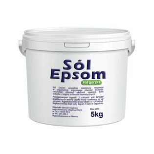 Sól Epsom Siarczan Magnezu Wiadro 5 kg VitaFarm