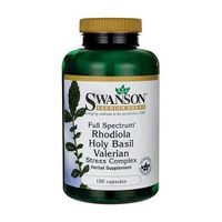 Swanson Stress Complex Rhodiola Holy Basil Valerian 180 kaps.
