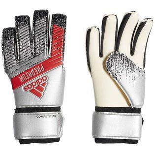 Rękawice bramkarskie adidas Predator Competition srebrno-czerwone DY2603