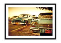 Obraz W Ramie - Lata 60 Samochody  - 100X70 Cm - F1Baa100X70-3491