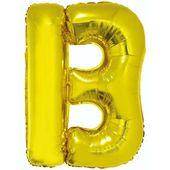 Balon foliowy LITERA B złoty alfabet napis 85 cm