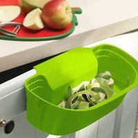 Pojemnik na obierki z blatu zakładany na drzwi lub szufladę mały zielony