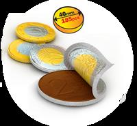 Złote Czekoladowe Monety Euro Duże! Pyszne! 50szt