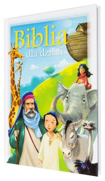 BIBLIA DLA DZIECI B5 z grawerem PREZENT NA CHRZEST KOMUNIĘ zdjęcie 9