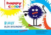 Blok rysunkowy biały A4 HAPPY COLOR Premium 100g