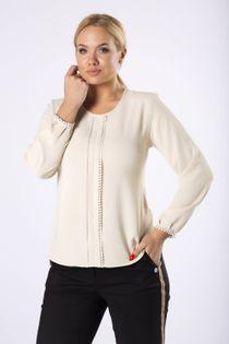 elegancka bluzka z koronkowym lampasem z przodu