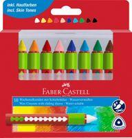 Kredki świecowe akwarelowe FABER-CASTELL 10 kol