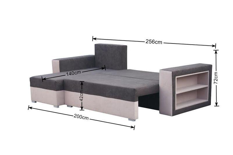 Narożnik MADRAS kanapa pojemnik+barek+spanie zdjęcie 6