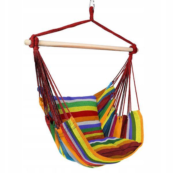 Krzesło brazylijskie wiszące Hamak z poduszkami zdjęcie 2