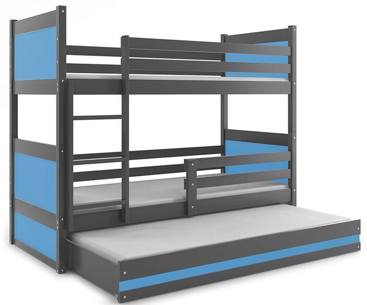Łóżko łóżka dla dzieci meble Mateusz 190x80 piętrowe dla trójki dzieci zdjęcie 1