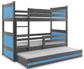 Łóżko łóżka dla dzieci meble Mateusz 190x80 piętrowe dla trójki dzieci