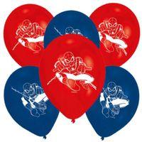 Balony Spider-Man czerwone niebieskie SPIDERMAN x6