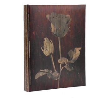 ALBUM, albumy na zdjęcia szyty 300 zdjęć 10x15 cm opis LEAF róża