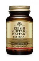 SOLGAR Reishi Shiitake Maitake ekstrakty, 50 kaps.