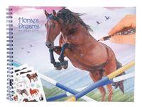 TOP MODEL 10295 Kolorowanka  Konie  Horses