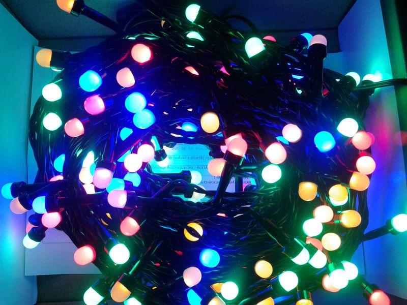 Sznur świetlny 20 M 200 Led Perełki Zewnętrzne Oświetlenie świąteczne Nr 0206 Wybierz Kolor światła Zimny Biały