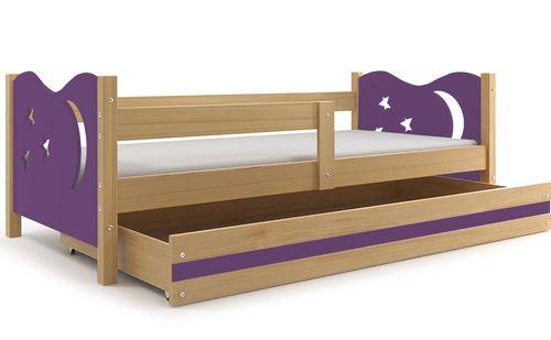 Łóżko dla dzieci MIKOŁAJ dziecięce pojedyncze 160x80  + BARIERKA na Arena.pl