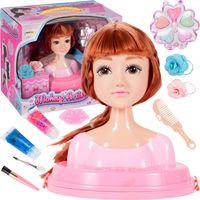 Głowa Lalki Do Czesania Włosów i Stylizacji Makijażu + Akcesoria