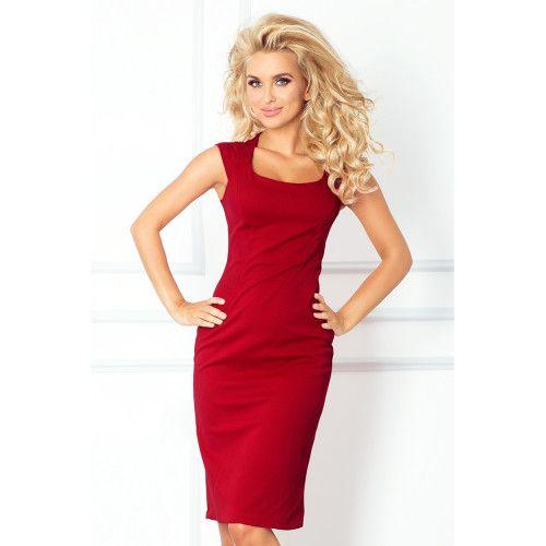 80893f387a Nowa dopasowana sukienka - BORDOWA XL • Arena.pl
