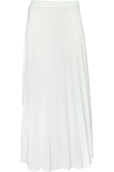 Biała Plisowana Spódnica, Maxi 40 L