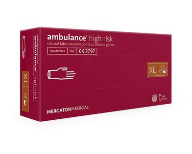 Rękawice lateksowe ambulance high risk XL  50 szt