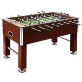 Stół do gry w piłkarzyki, stal, 60 kg, 140x74,5x87,5cm, brązowy