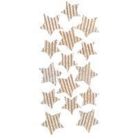 NAKLEJKI BROKATOWE 3D CRAFT - GWIAZDKI 15 SZT. SILVER DALPRINT