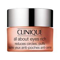 Clinique All About Eyes Rich Cream Bogaty Krem Redukujący Sińce Pod Oczami, Opuchliznę Oraz Linie I Drobne Zmarszczki 15Ml