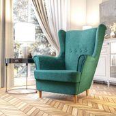 Fotel Skandynawski Uszak mocny materiał+sprężyny zdjęcie 6