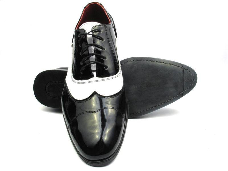 534d127e Czarno białe lakierki męskie - spektatory obuwie Al Capone T25 Rozmiar  Obuwia - 48 zdjęcie 4